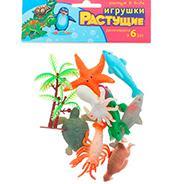 """Набор растущих игрушек """"Морские животные"""", 8 шт + дерево"""