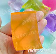 """Оранжевые гидрогелевые кубики """"Orbeez"""" (Орбиз), 1 шт"""