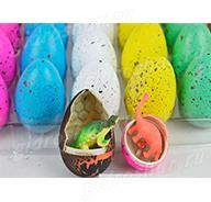 Яйцо среднее цветное в трещенку 5,5х4,5 см, 1 шт
