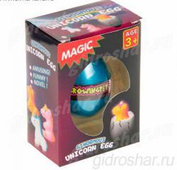 Яйцо с растущим в воде Единорогом 10,5х7,5х5 см, 1 шт